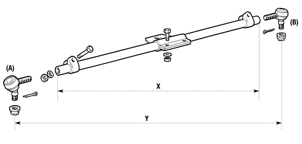 Meritor Steer Axle Parts Catalog : Command steer track rods steering axle parts list